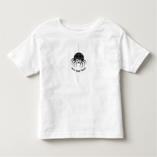 Cute Plaid Black Spiders and Curly Web Toddler T-shirt