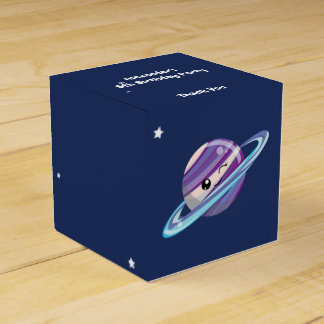 Cute Planet Saturn Space Galaxy Kid Birthday Favor Box