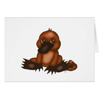 Cute Platypus with Baby Card
