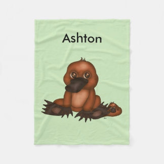Cute Platypus with Baby Fleece Blanket