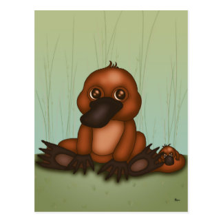 Cute Platypus with Baby Postcard