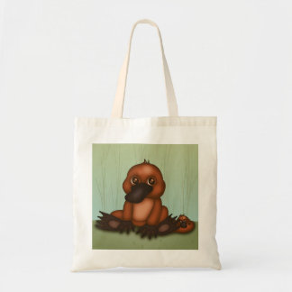 Cute Platypus With Baby Tote Bag