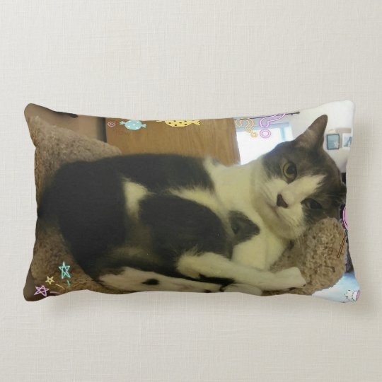 Cute Playful Cat Print Pillow