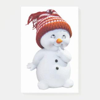 CUTE PLAYFUL SNOWMAN POST-IT NOTES