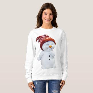 CUTE PLAYFUL SNOWMAN SWEATSHIRT