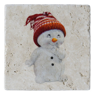CUTE PLAYFUL SNOWMAN TRIVET