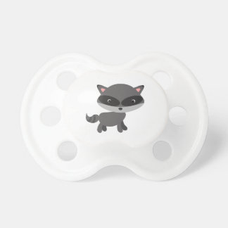 Cute Playful Woodland Forest Animal Raccoon Pacifier
