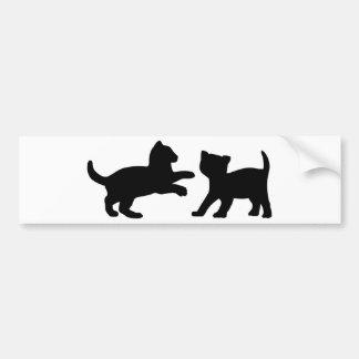 Cute Playing Kittens Bumper Sticker