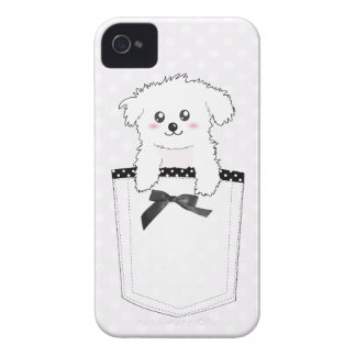 Cute Pocket Puppy Dog iPhone 4 Case-Mate Cases