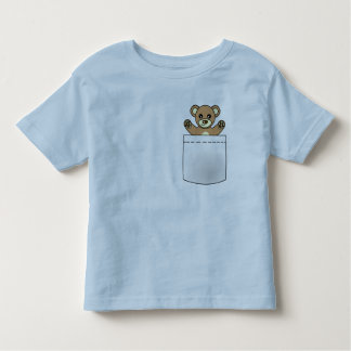 Cute Pocket Teddy Bear - Light T-shirt