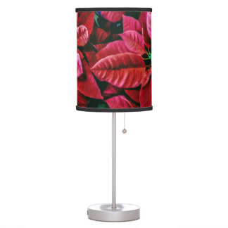 Cute Poinsettia Plant Picture Design Table Lamp