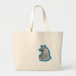 Cute polar bear canvas bags