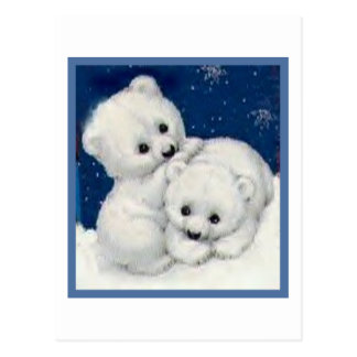 Cute Polar Bear Cubs Postcard