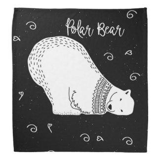 Cute Polar Bear Design in Black and White Do-rag