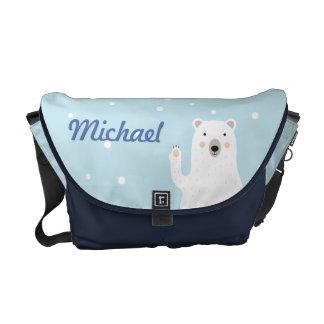 Cute Polar Bear Diaper Bag - Personalized Messenger Bag