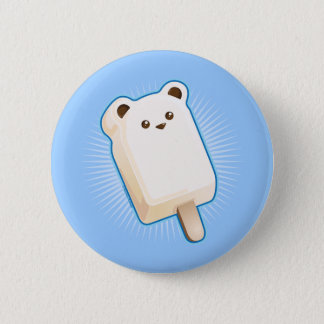 Cute Polar Bear Ice Cream Bar 2 Inch Round Button