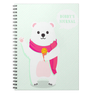 Cute Polar Bear Personalized Notebook