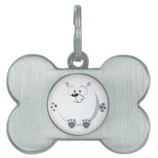 Cute polar bear pet tag