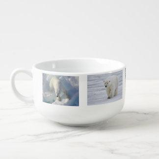 Cute Polar Bear Snow Winter Animal Water Park Art Soup Mug