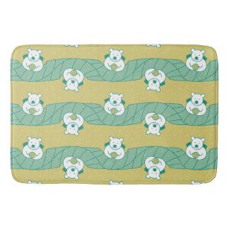 Cute Polar Bear Tea Break Pattern Bath Mat