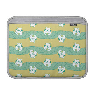 Cute Polar Bear Tea Break Pattern Laptop Sleeve