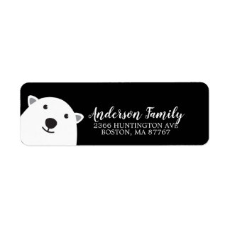 Cute Polar Bear Winter Holiday Address Label