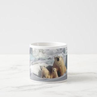 Cute Polar Bears Cubs Arctic Wildlife Espresso Mug