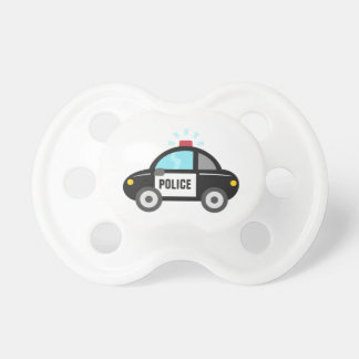 Cute Police Car with Siren Baby Pacifiers