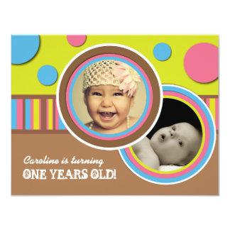 Cute Polk a Dot Birthday Party Invitation