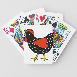 Cute Polka Dot Chicken Bicycle Playing Cards