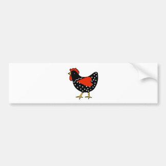 Cute Polka Dot Chicken Bumper Sticker