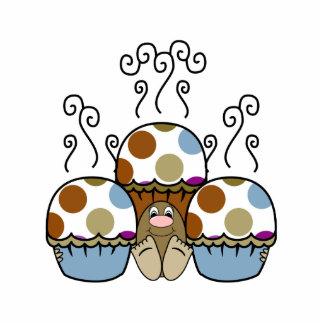 cute polka dot cupcake cut out