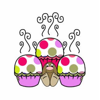 cute polka dot cupcake photo cut out
