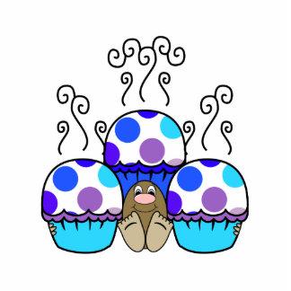 cute polka dot cupcake photo cutout