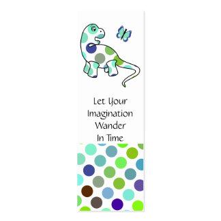 Cute Polka Dot Dinosaur Bookmark Business Cards