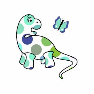 Cute Polka Dot Dinosaur Ornament Cut Outs