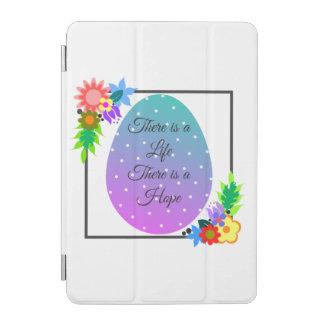 Cute polka dot egg with floral wreath iPad mini cover