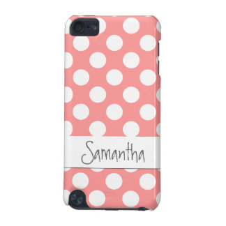 Cute polka-dot iPod case in coral