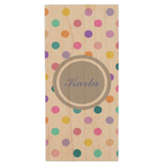 Cute polka dot personal flash drive confetti print