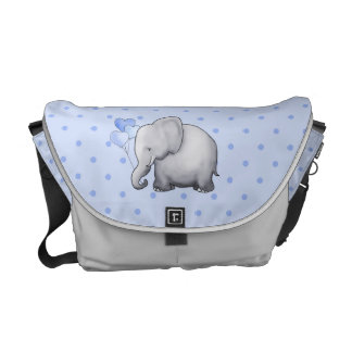 Cute Polka Dots Elephant Baby Maternity Diaper Courier Bag