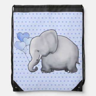 Cute Polka Dots Elephant Baby New Parent Diaper Drawstring Bag