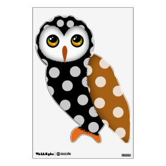 Cute Polkadot Spotted Owl Wall Decal