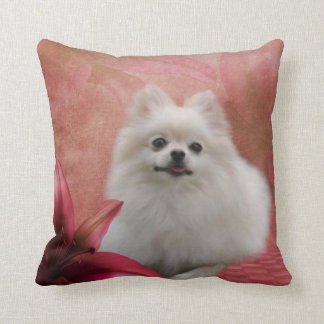 Cute Pomeranian Dog American MoJo Pillow