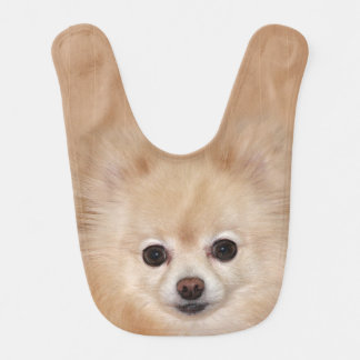 Cute Pomeranian face Bib