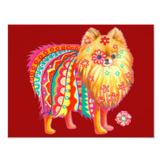 Cute Pomeranian Invitations for Any Occasion