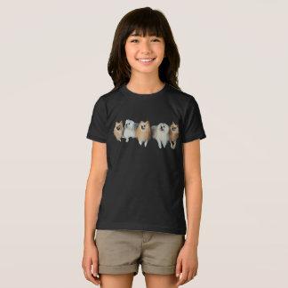 Cute Pomeranian Maltese Dogs Puppies Girls T-Shirt
