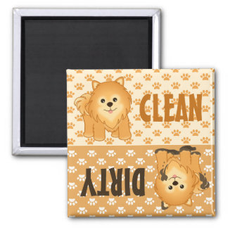 Cute Pomeranian Puppy Dogs Dishwasher Magnet