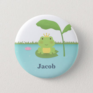 Cute Pond Frog Prince For Boys 2 Inch Round Button