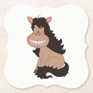 Cute Pony Cartoon Paper Coaster