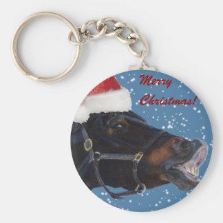Cute Pony Christmas Keychain